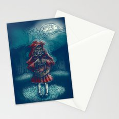 Big Bad Little Red Riding Wolf Hood Stationery Cards