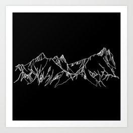 Night Watch :: Tantalus :: Single Line Art Print