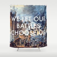 lorde Shower Curtains featuring Glory of Storming the Bastille by Lorde Art History