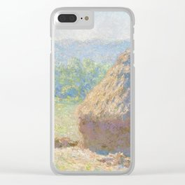 Haystacks, end of Summer by Claude Monet Clear iPhone Case