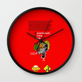 Government Of the Rich Super Majority Wall Clock