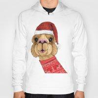 alpaca Hoodies featuring Alpaca Christmas by Barruf