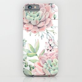 Pink Succulents by Nature Magick iPhone Case