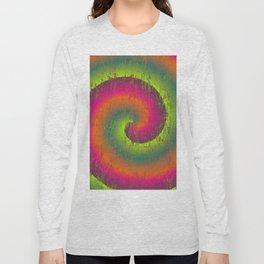 Spiral Stick Texture Long Sleeve T-shirt