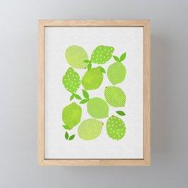Lime Crowd Framed Mini Art Print