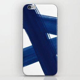 Indigo Abstract Brush Strokes   No. 4 iPhone Skin