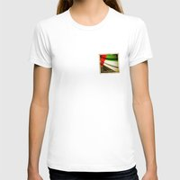 arab T-shirts featuring Grunge sticker of United Arab Emirates flag by Lulla