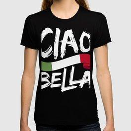 Ciao Bella Italy Flag graphic, Italian Tee design T-shirt