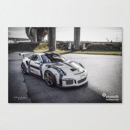 "Porsche 991 GT3RS ""Faith Hope Love"" Canvas Print"