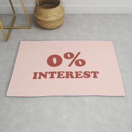 0% Interest Modern Typography Rug
