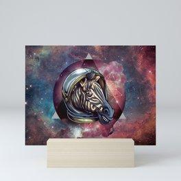 Cosmic Zebra and Galaxy Mini Art Print