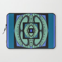 Retro Art Deco Color Therapy Healing Cool Tones Laptop Sleeve