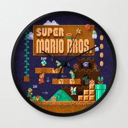 Mario Super Bros Wall Clock