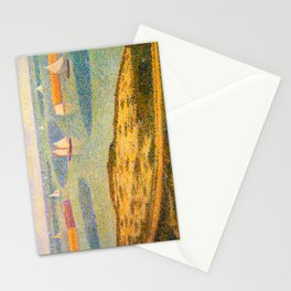Port-en-Bessin Entrance to the Outer Harbor Georges Seurat - 1888 Impressionism Modern Populism Oil Stationery Cards