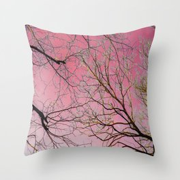 Blacky Pinky Throw Pillow