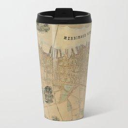 Map of Newburyport 1851 Travel Mug