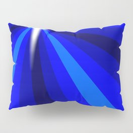 Blue Christmas Star Pillow Sham