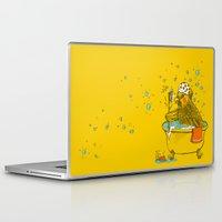bath Laptop & iPad Skins featuring Bird Bath! by HFDee