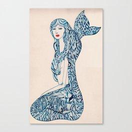 Portrait of a Mermaid Canvas Print