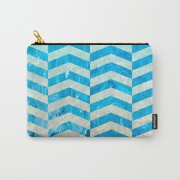 Aquatic Gradient -Wide Cevrons Carry-All Pouch