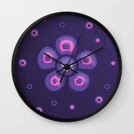 Purple Evil Flower Wall Clock