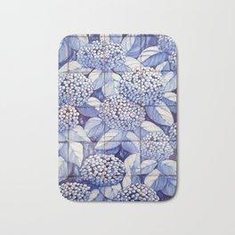 Floral tiles Bath Mat
