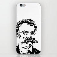 nietzsche iPhone & iPod Skins featuring Friedrich Nietzsche by Joshua M. Paschal