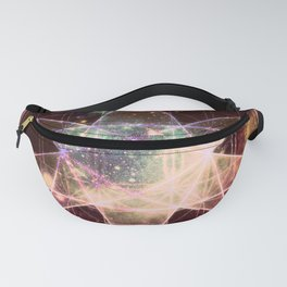 Galaxy Sacred Geometry : Stellated Icoshadron Warmth Fanny Pack