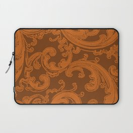 Retro Chic Swirl Autumn Maple Laptop Sleeve