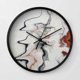 Unique Fluid Abstract Wall Clock