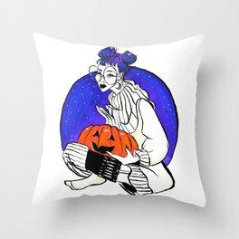 Pumpkins and Buns Throw Pillow