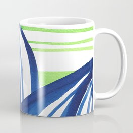 Lime and blue abstract landscape Coffee Mug