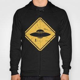 Vintage UFO Warning Sign Hoody