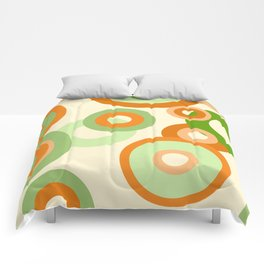 vintage rings orange green Comforters
