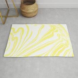 Yellow Marble Ink Watercolor Rug
