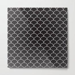 Black and White pattern Metal Print