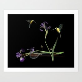 Birds 'n' Bees Art Print
