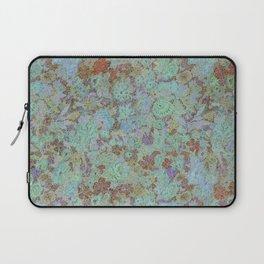 Flowers Under - Cool Colors Laptop Sleeve