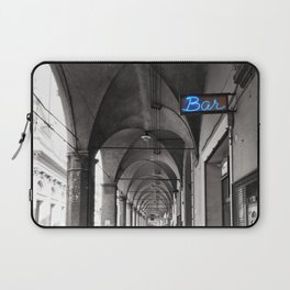 Black and white Bologna Street Photography Laptop Sleeve
