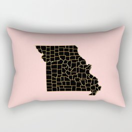 Minnesota map Rectangular Pillow