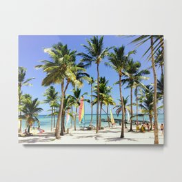 Palm Tree Vacation Metal Print