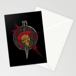 Heroic Spartan Emblem | Warrior Fighter Stationery Cards