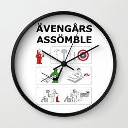 Superheroes Assembling - Colour Wall Clock