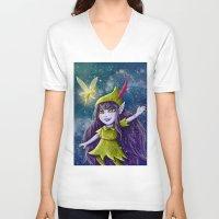 neverland V-neck T-shirts featuring Lulu Neverland by Anais.Lalovi