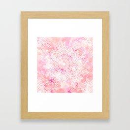 Queen Starring of Mandalas-Rose Framed Art Print