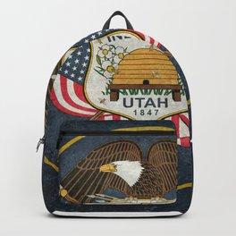 Flag of Utah, Grungy Style Backpack