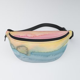 24     191215   Abstract Watercolor Pattern Painting Fanny Pack