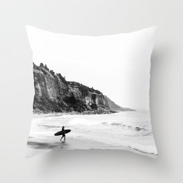 Surfer heads out II Throw Pillow