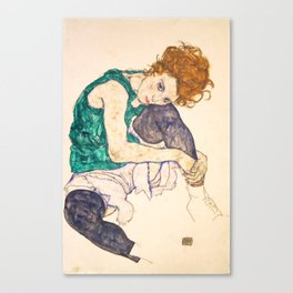 "Egon Schiele ""Seated Woman with Legs Drawn Up"" Canvas Print"