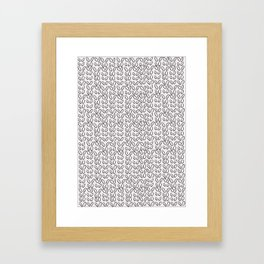 Knitting Knit Pattern - Doodle - Black and White Ink Framed Art Print